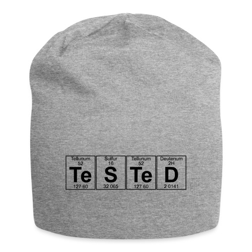 Te-S-Te-D (tested) (small) - Jersey Beanie