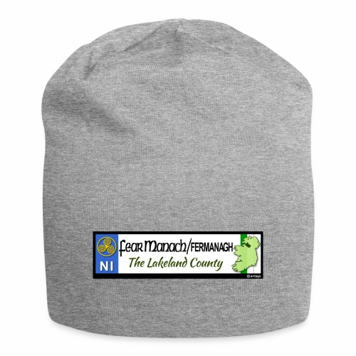 FERMANAGH, NORTHERN IRELAND licence plate tags eu - Jersey Beanie