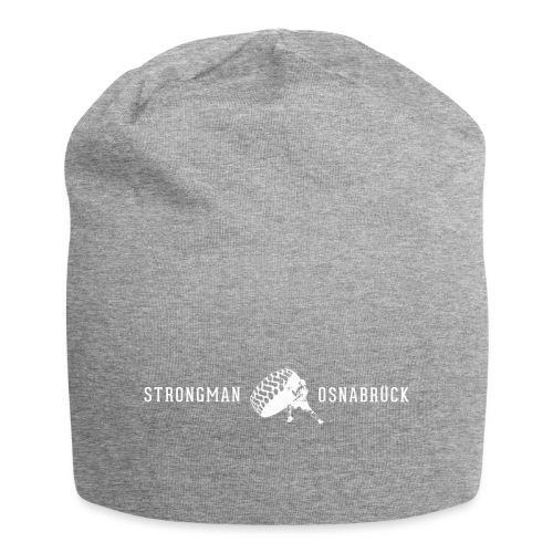 Strongman Logo weiß - Jersey-Beanie