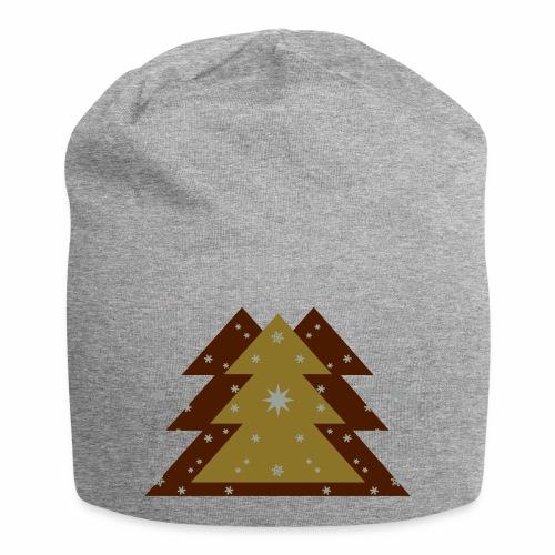 Weihnachten und Schnee - Jersey-Beanie