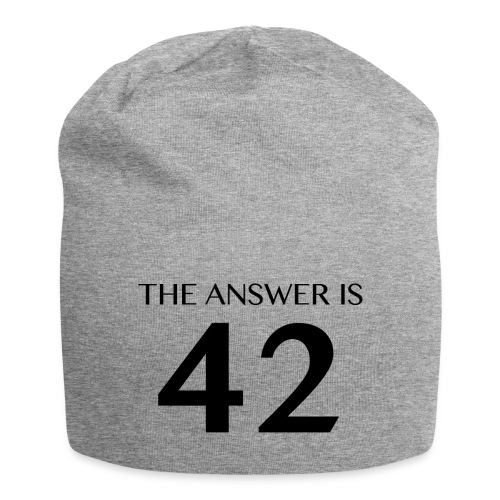 The Answer is 42 Black - Jersey Beanie