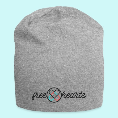 freehearts with color logo - Jersey-Beanie