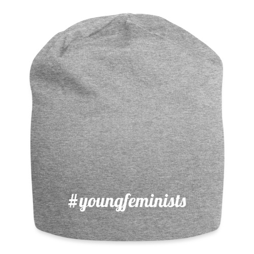 Young Feminists weiß - Jersey-Beanie