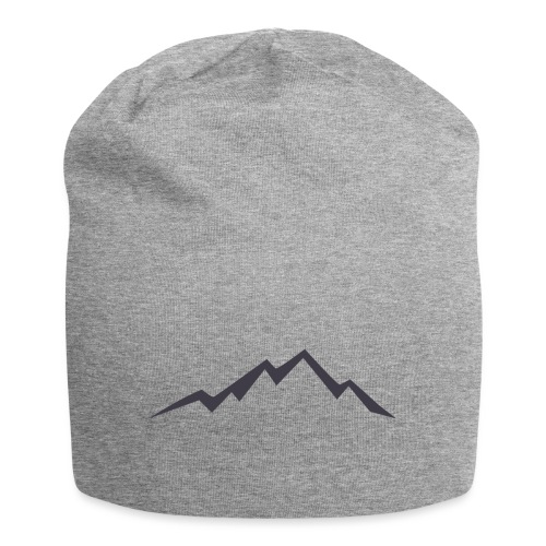 swiss alps clipart sihllouette ski mountains - Jersey-Beanie