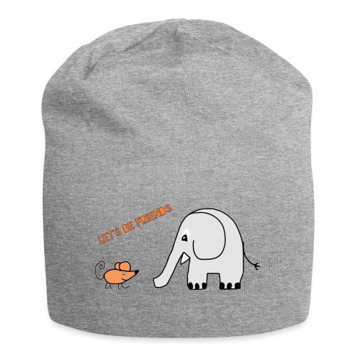 Elephant and mouse, friends - Jersey Beanie