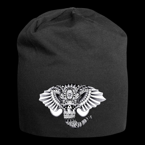 Elephant Ornate Drawing - Beanie in jersey