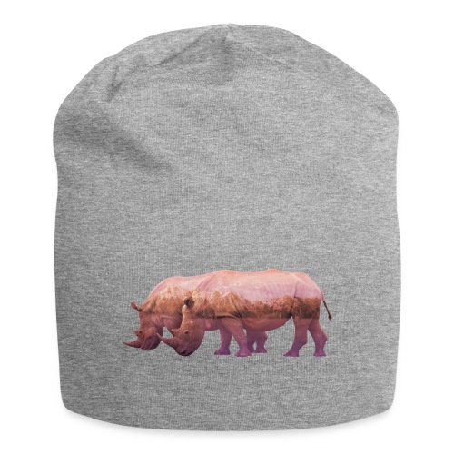 Nashorn Alpen - Jersey-Beanie