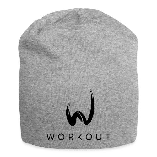 Workout mit Url - Jersey-Beanie