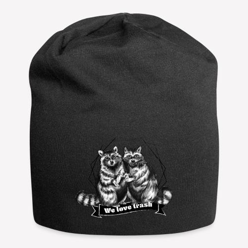 Raccoon – We love trash - Jersey-Beanie