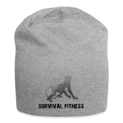 Survival Fitness Logo Schwarz - Jersey-Beanie