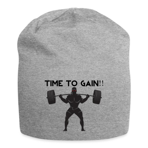 TIME TO GAIN! by @onlybodygains - Jersey Beanie