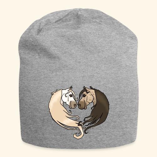 Chevaux amoureux gris-gris - Bonnet en jersey