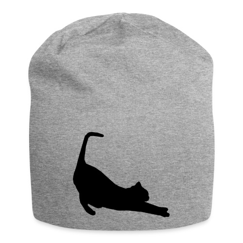 Schwarze Katze - Jersey-Beanie