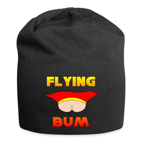 Flying Bum (face on) with text - Jersey Beanie