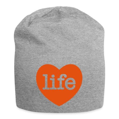 LOVE LIFE heart - Jersey Beanie