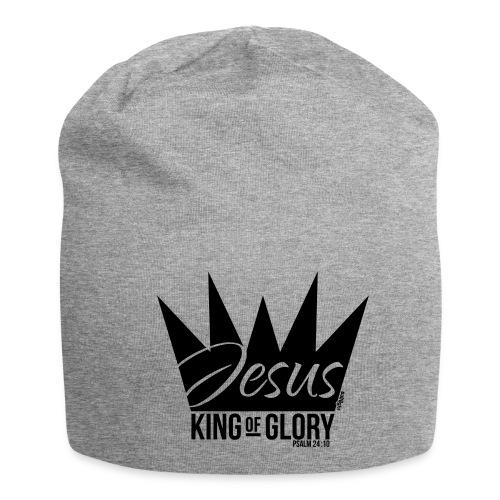 JESUS KING OF GLORY // Psalm 24:10 (BLACK) - Jersey Beanie