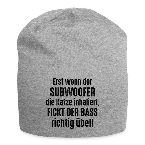 Subwoofer-Katze-Spruch der Bass fickt richtig übel - Jersey Beanie