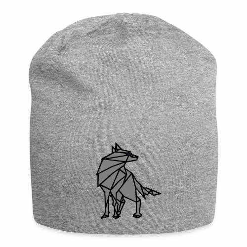 loup geometrique - Bonnet en jersey