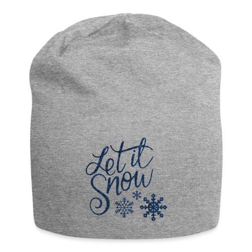 Let il snow Noël New shape fane design vintage - Bonnet en jersey