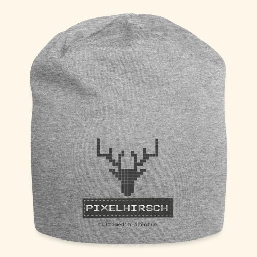 PIXELHIRSCH - grau - Jersey-Beanie