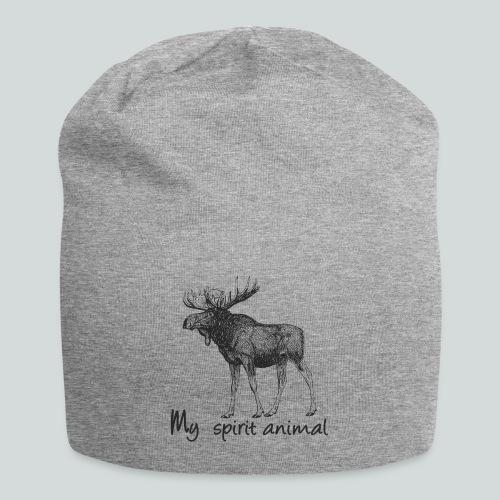 L'élan est mon animal totem - Bonnet en jersey
