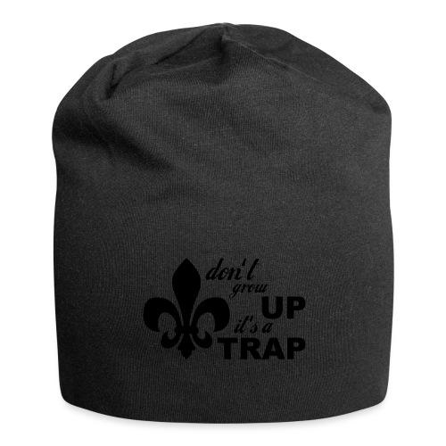 Don't grow up… Typo mit Lilie - Farbe frei wählbar - Jersey-Beanie