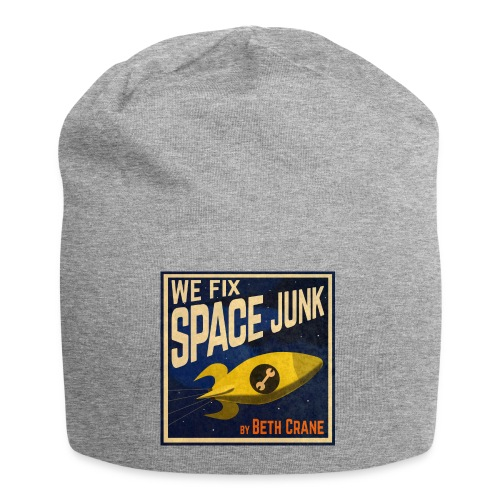 We Fix Space Junk logo (square) - Jersey Beanie