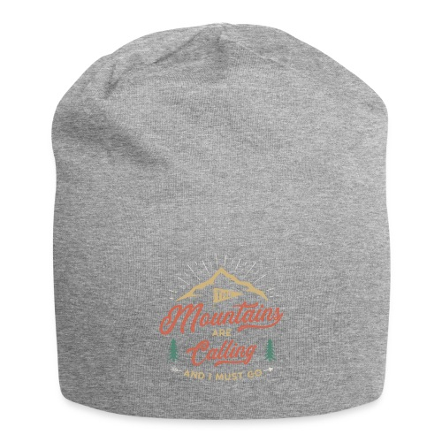 Mountains Are Calling - Beanie in jersey