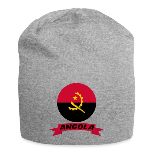 flag of Angola t shirt design ribbon banner - Beanie in jersey