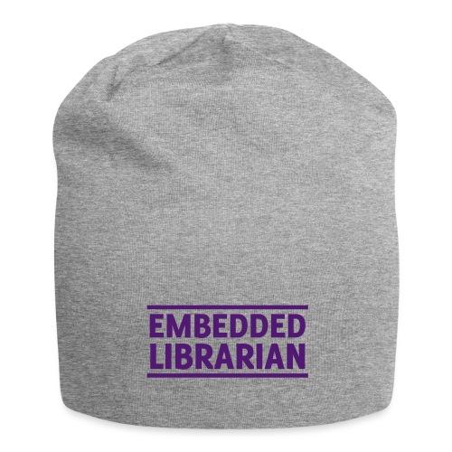 embedded librarian mit linien - Jersey-Beanie