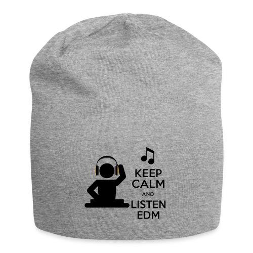 keep calm and listen edm - Jersey Beanie