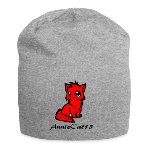 annie cat logo for with writing png - Jersey Beanie