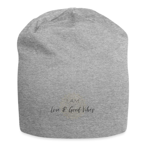 I am love and good vibes grey_gold - Jersey-Beanie