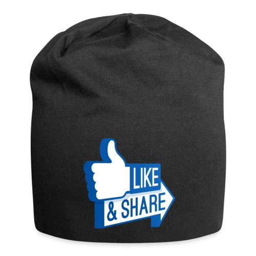 Like & Share (Facebook) - Beanie in jersey