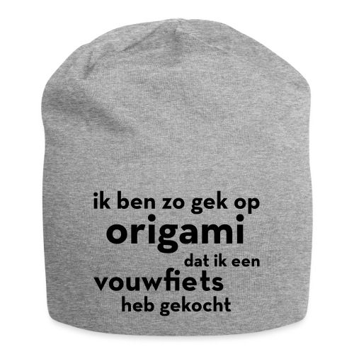 Origami - Vouwfiets - Jersey-Beanie