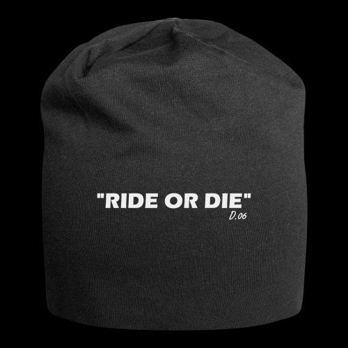 Ride or die (blanc) - Bonnet en jersey