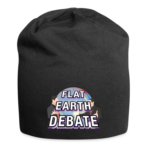Flat Earth Debate Solid - Jersey Beanie