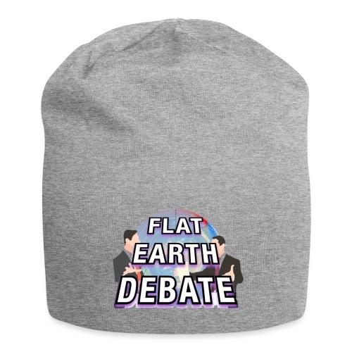 Flat Earth Debate Solid - Jersey Beanie