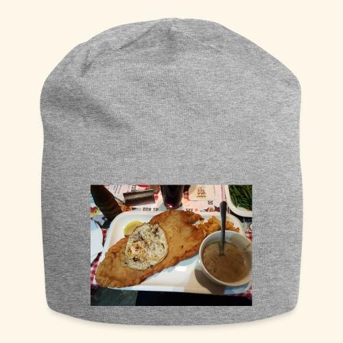 Schnitzel Motiv - Jersey-Beanie