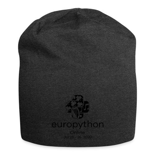 EuroPython 2020 - Vertical Black Logo - Jersey Beanie