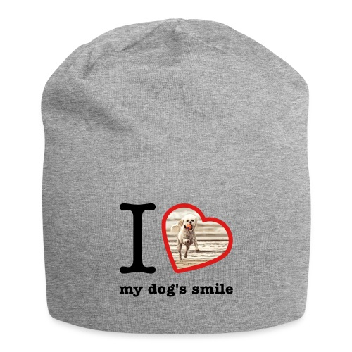 I love my dog's smile :) dog smile - Jersey Beanie