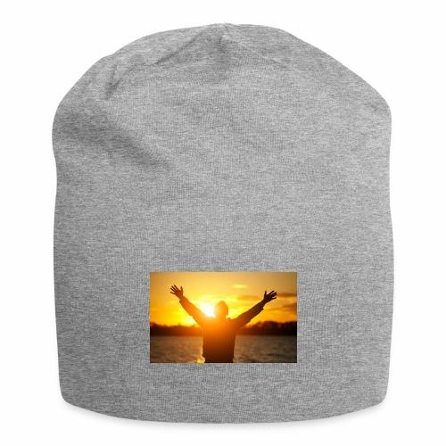 Camiseta Libre - Gorro holgado de tela de jersey