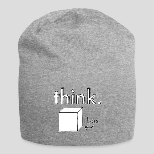 Think Outside The Box Illustration - Jersey Beanie