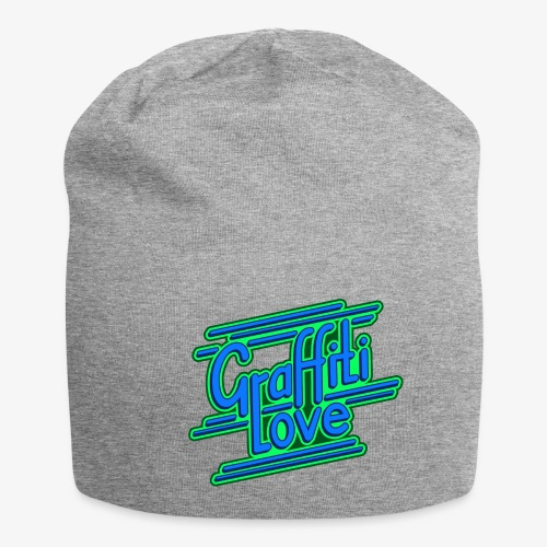 graffiti love type1 blue - Jersey-Beanie