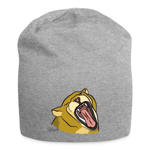 Gähnender / brüllender Löwe - Jersey-Beanie