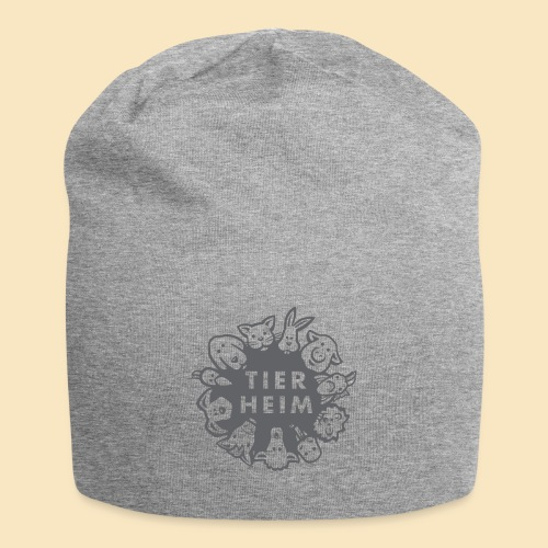 Tierheim Logo gray 75 - Jersey-Beanie