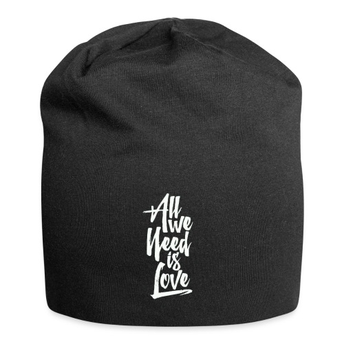 All we need is love - Gorro holgado de tela de jersey