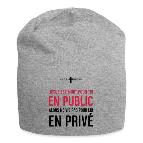 Public ou privé - Bonnet en jersey