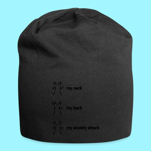 neck back anxiety attack - Jersey Beanie