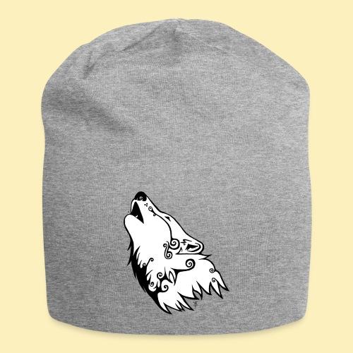 Le Loup de Neved (version blanche) - Bonnet en jersey